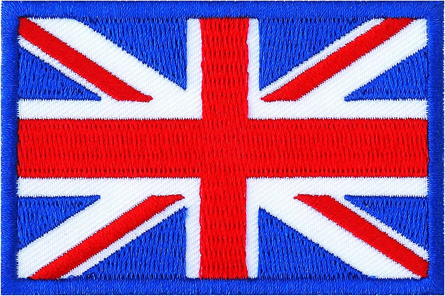 Great Britain Union Jack Flag Embroidered Iron On Patch