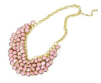 Kette mit rosa perlen