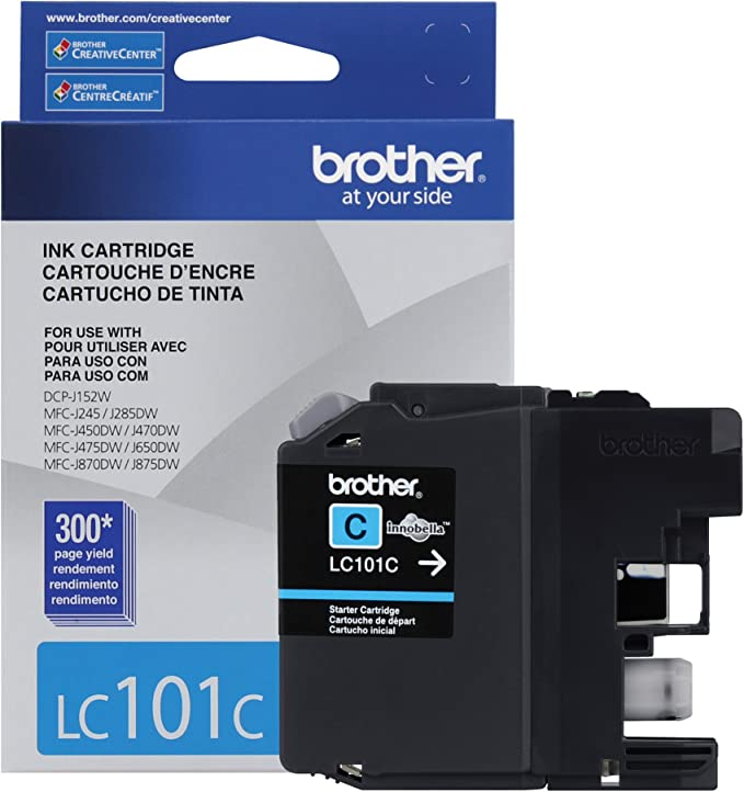 Amazon.com: Brother Printer LC101BK Negro cartucho de tinta ...
