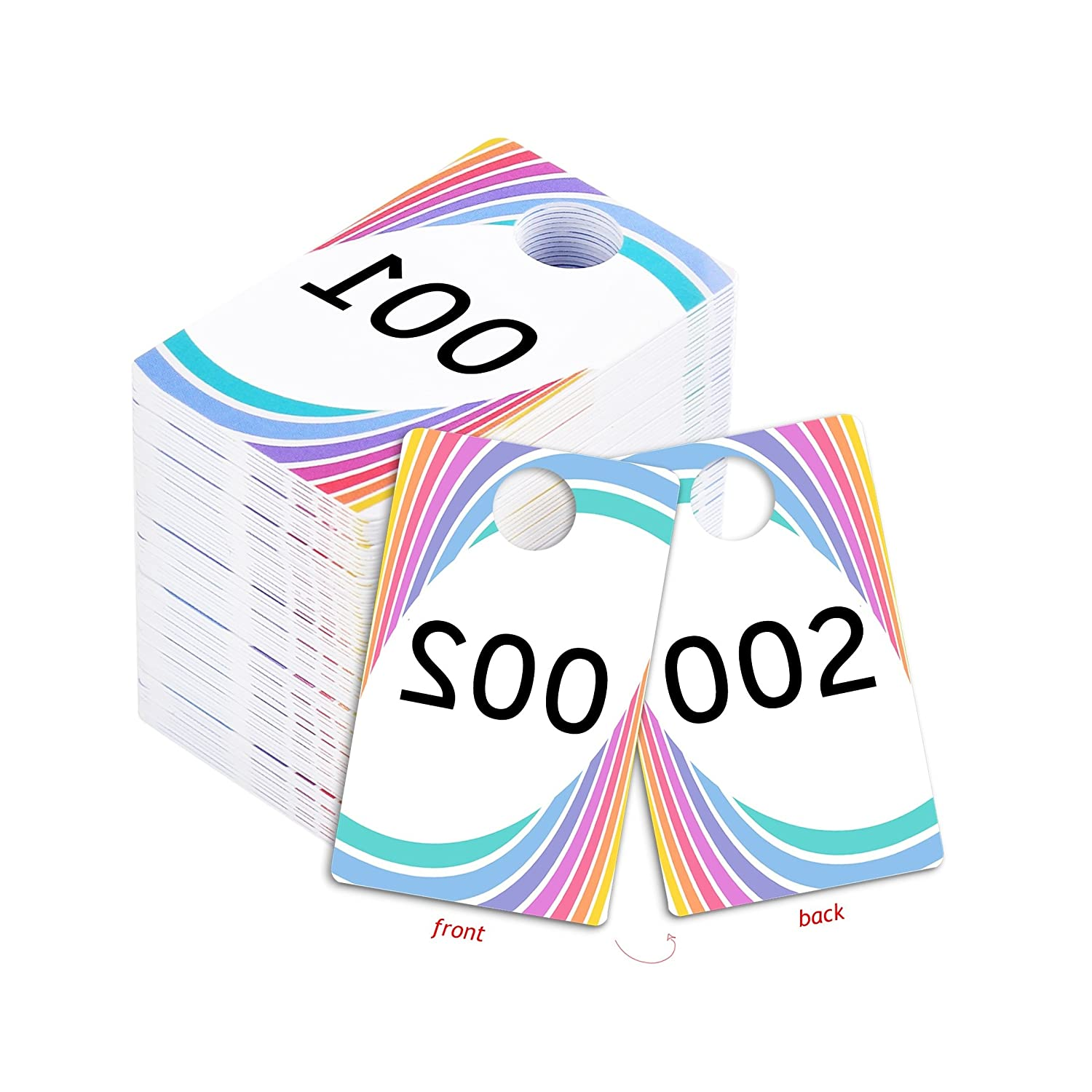 picture regarding Paparazzi Printable Numbers identified as Dwell Sale Plastic Tags, 001-999 Variety Sequence, Reusable Natural and Opposite Replicate Impression Hanger Playing cards, Pick out a Fixed of 100 Quantities, (001-100)