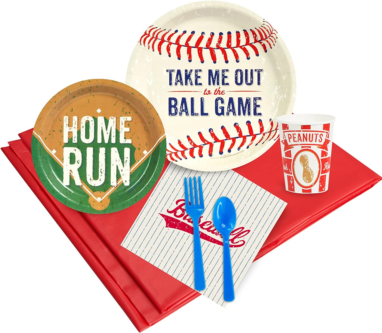 BirthdayExpress Baseball Time Party Supplies - Party Pack for 8