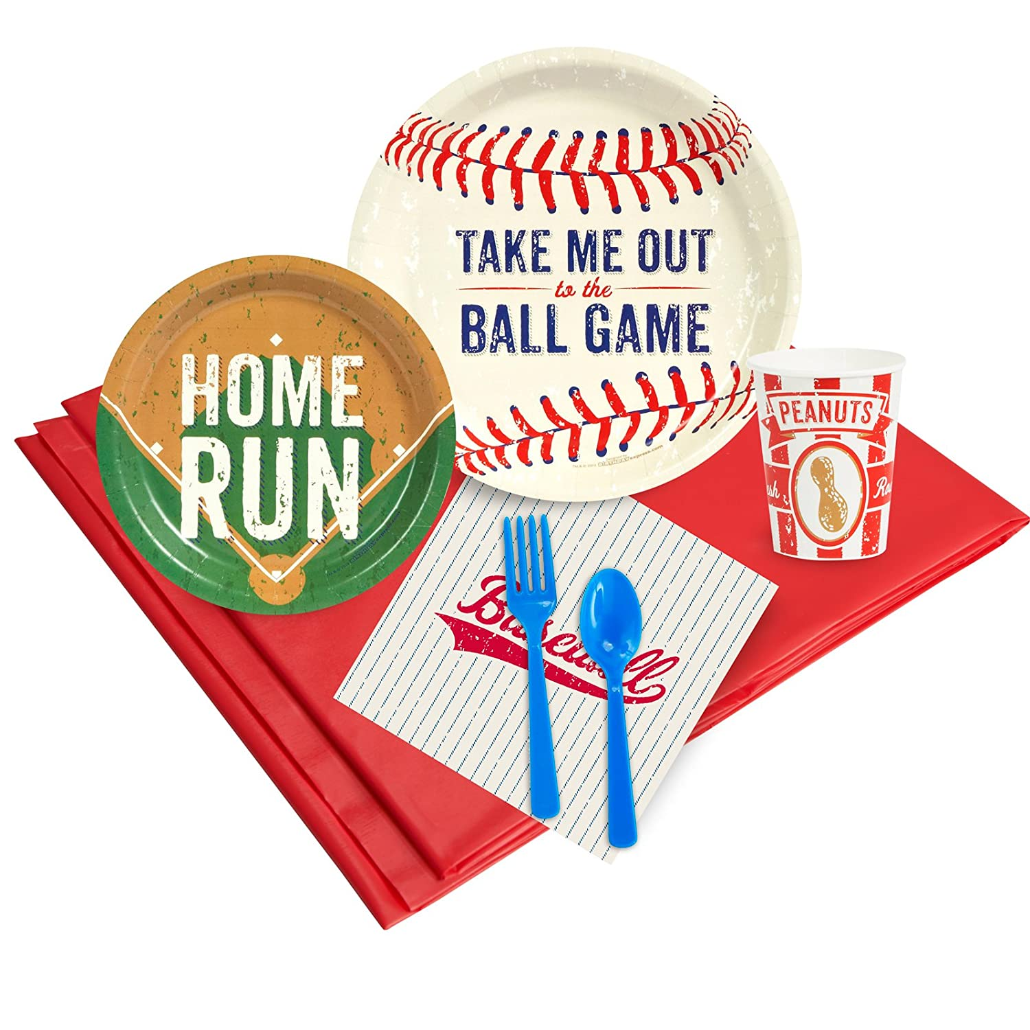 Baseball Time Party Supplies - Party Pack Pack Pack for 8 by BirthdayExpress dac0df