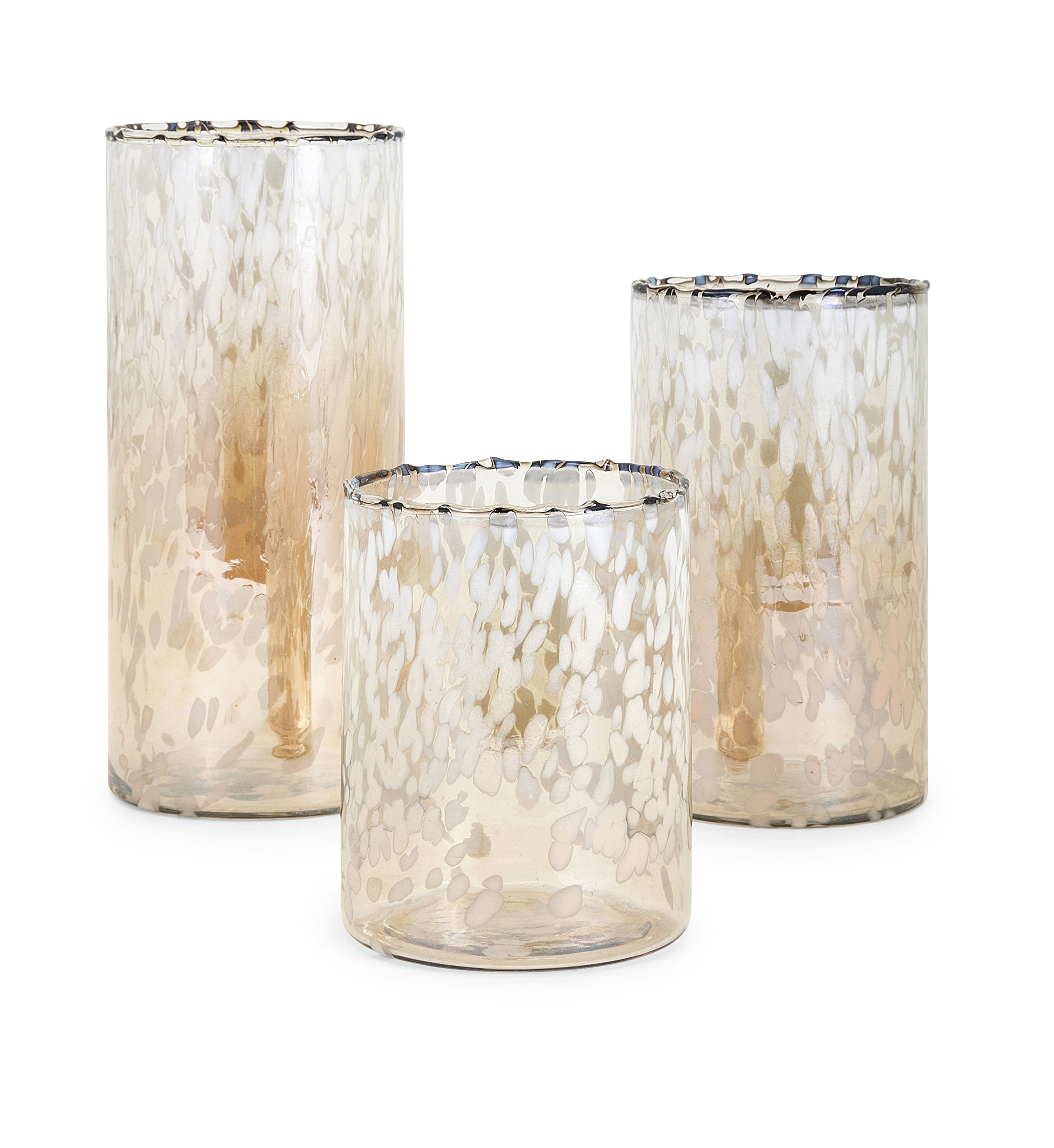Imax Luxe Set of 3 Glass Hurricanes