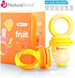 Amazon Price History for:NatureBond Baby Food Feeder / Fruit Feeder Pacifier (2 PCs) - Infant Teething Toy Teether in Appetite Stimulating Colors | Includes 6 PCs All Sizes Silicone Sacs (Sunshine Orange & Lemonade Yellow)