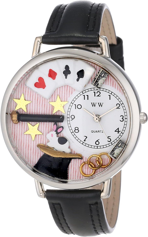 Whimsical Watches Unisex U0420006 Magic Black Padded Leather Watch