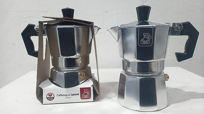 Cafetera Moka Espresso Cubana, aluminio, 1 taza: Amazon.es: Hogar
