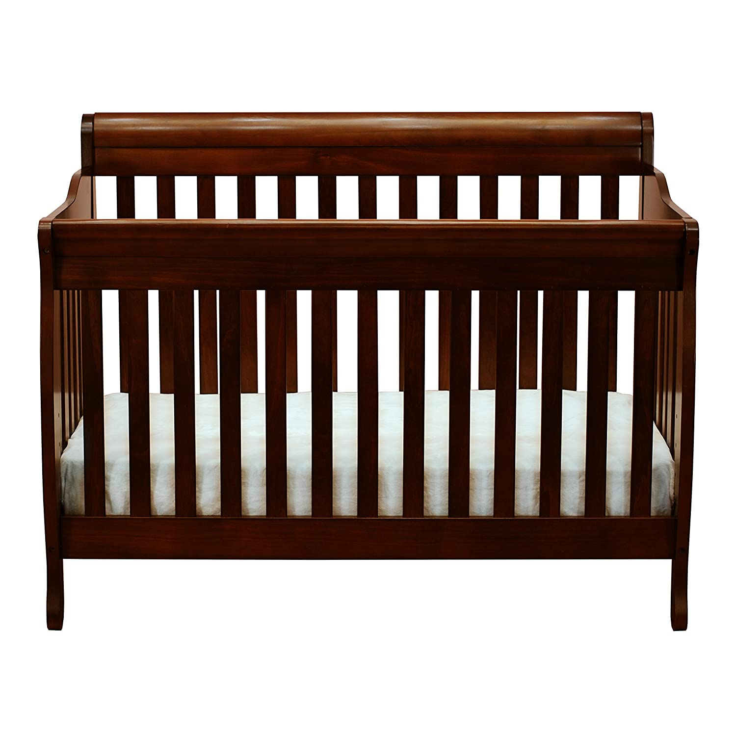 Amazon.com: Athena Alice 3 in 1 Crib with Toddler Rail, Espresso: Baby