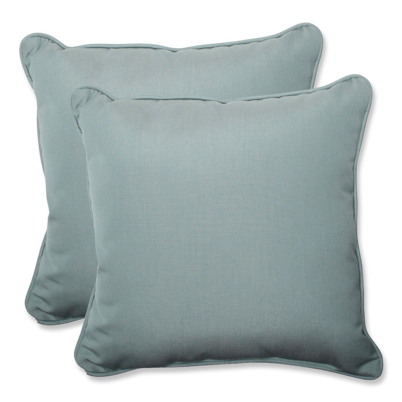 Pillow Perfect Throw Pillow with Blue Sunbrella Fabric, 18.5-Inch, Set of 2 [並行輸入品]   B013E4XQC2