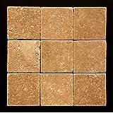 Noce 4 X 4 Travertine Tumbled Tile