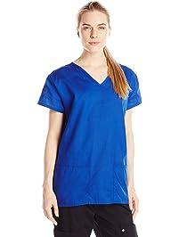 0001a35b14a 24|7 Comfort Scrubs Womens V Neck Top Medical Scrubs Shirt