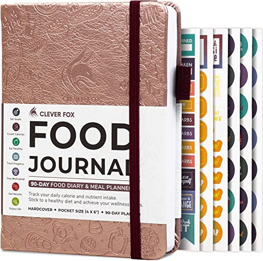 Amazon.com : Clever Fox Food Journal Pocket Size - Daily Food Diary, Meal Tracker & Planner for Purse, Calorie and Nutrition Log, for Sticking to a Healthy Diet & Achieving Weight Loss Goals - Rose Gold : Sports & Outdoors