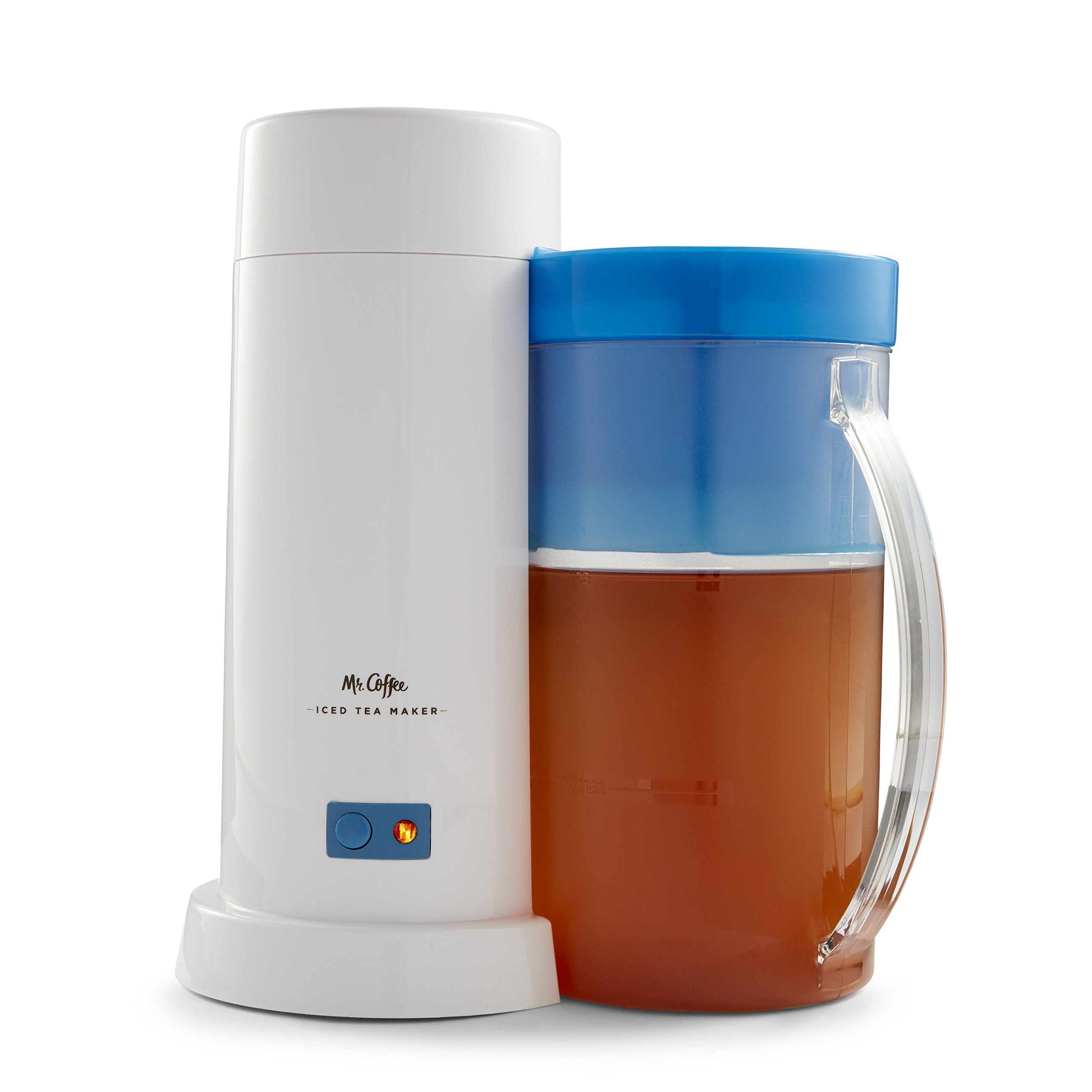 Mr. Coffee TM1 2-Quart Iced Tea Maker for Loose or Bagged Tea, Blue by Mr. Coffee
