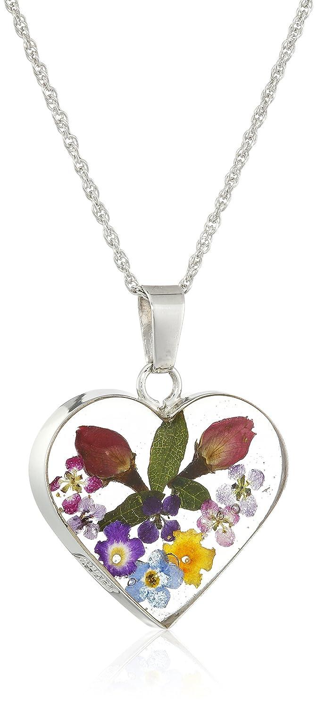 Sterling Silver Flower Heart P...