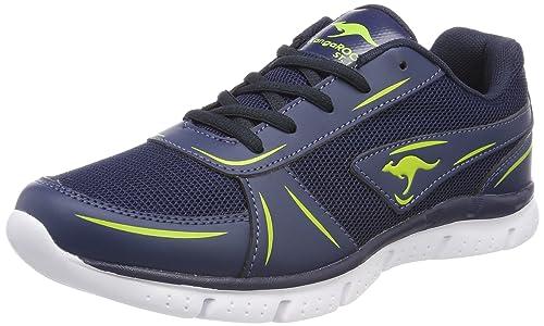 KangaROOS K-Reg, Sneaker Donna, Blu (Dk Navy/Lime 4054), 42 EU