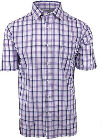 Champion Bude - Camisa casual de manga corta para hombre, de fácil cuidado, talla grande hasta 5XL: Amazon.es: Ropa y accesorios