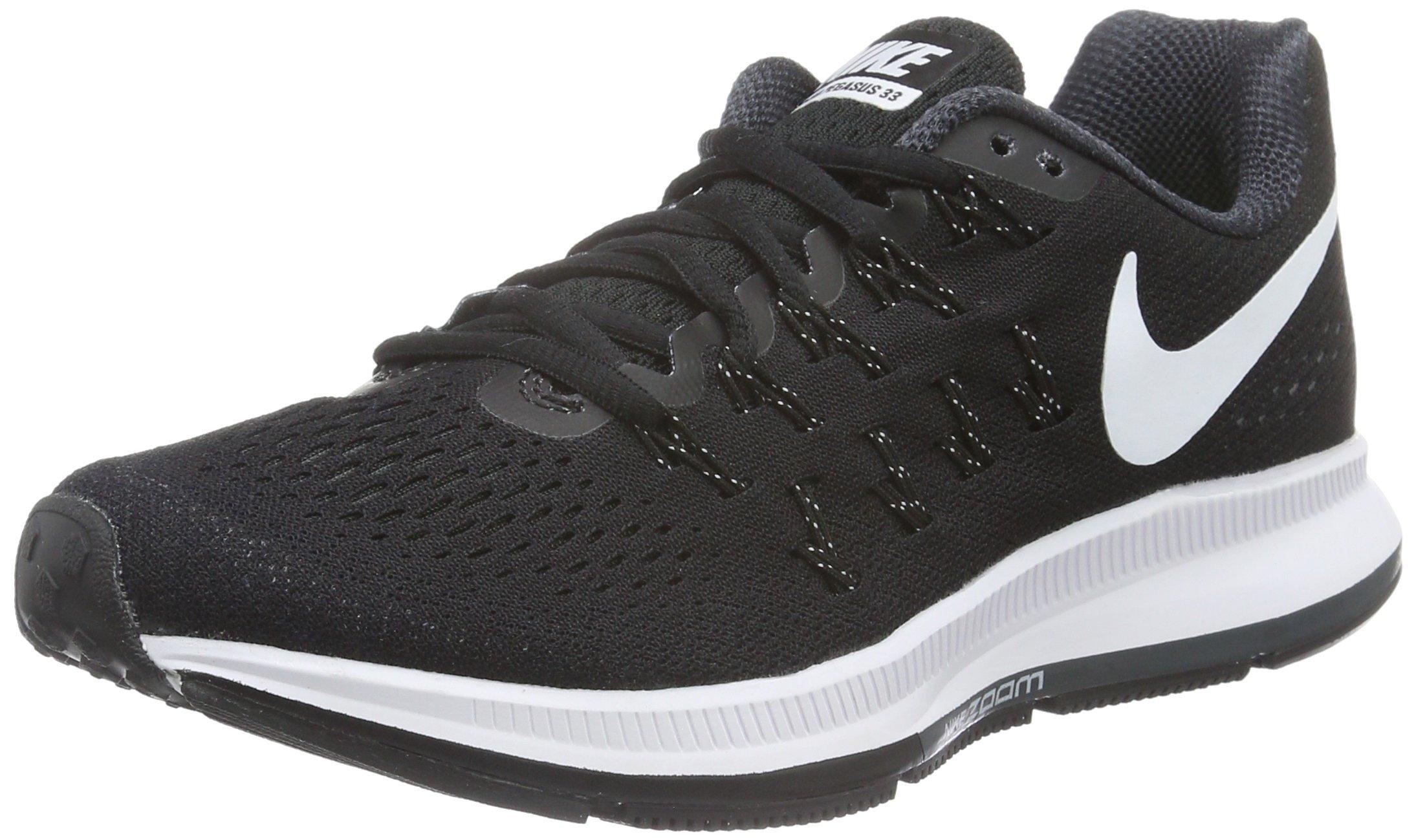 Nike Women's Air Zoom Pegasus 33 Black/White/Anthracite/CL Grey Running Shoe 5.5 Women US
