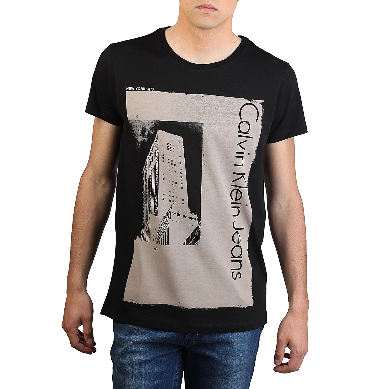Calvin Klein Jeans Men's V-Neck Long Sleeve Cardigan - Black - Small