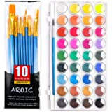 AROIC Watercolor Paint Set, with a Watercolor Paint, 36 Color,and a Package of 10 Brushes of Different Sizes, The Best Gift f