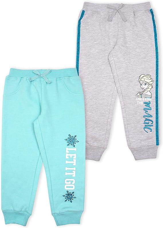 Disney Princess Girls 2-Piece Athletic Jogger Pants Set