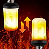 NITOR Lighting LED Flame Effect Light Bulb, Flickering Fire Effect Decorative Lights - Flat Black E26 Base - Vintage Calming Effect Light Atmosphere, Upside Down Function W/ Gravity Sensor, (1 Pack)