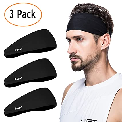 Amazon.com   poshei Mens Headband (3 Pack) 78e59968e19