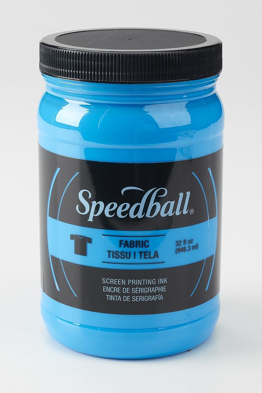 Speedball 004695 Fluorescent Screen Printing Ink, 32 fl. oz, Lime Green