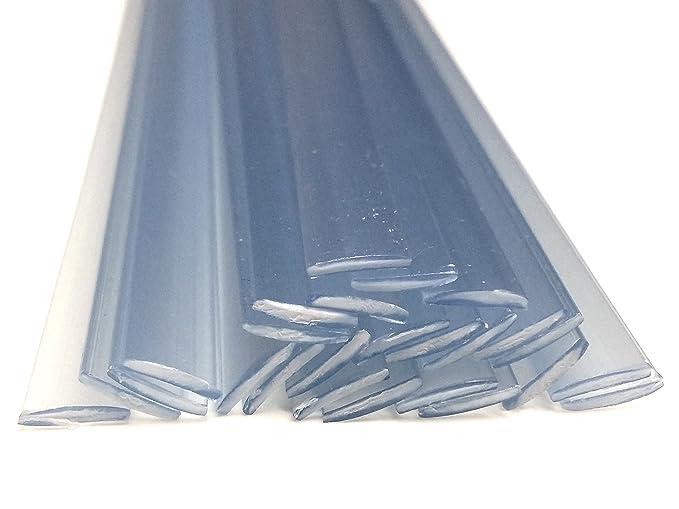 Alambre de soldadura de plástico PVC-U duro 8x1mm Plano Transparente 25 barra: Amazon.es: Coche y moto