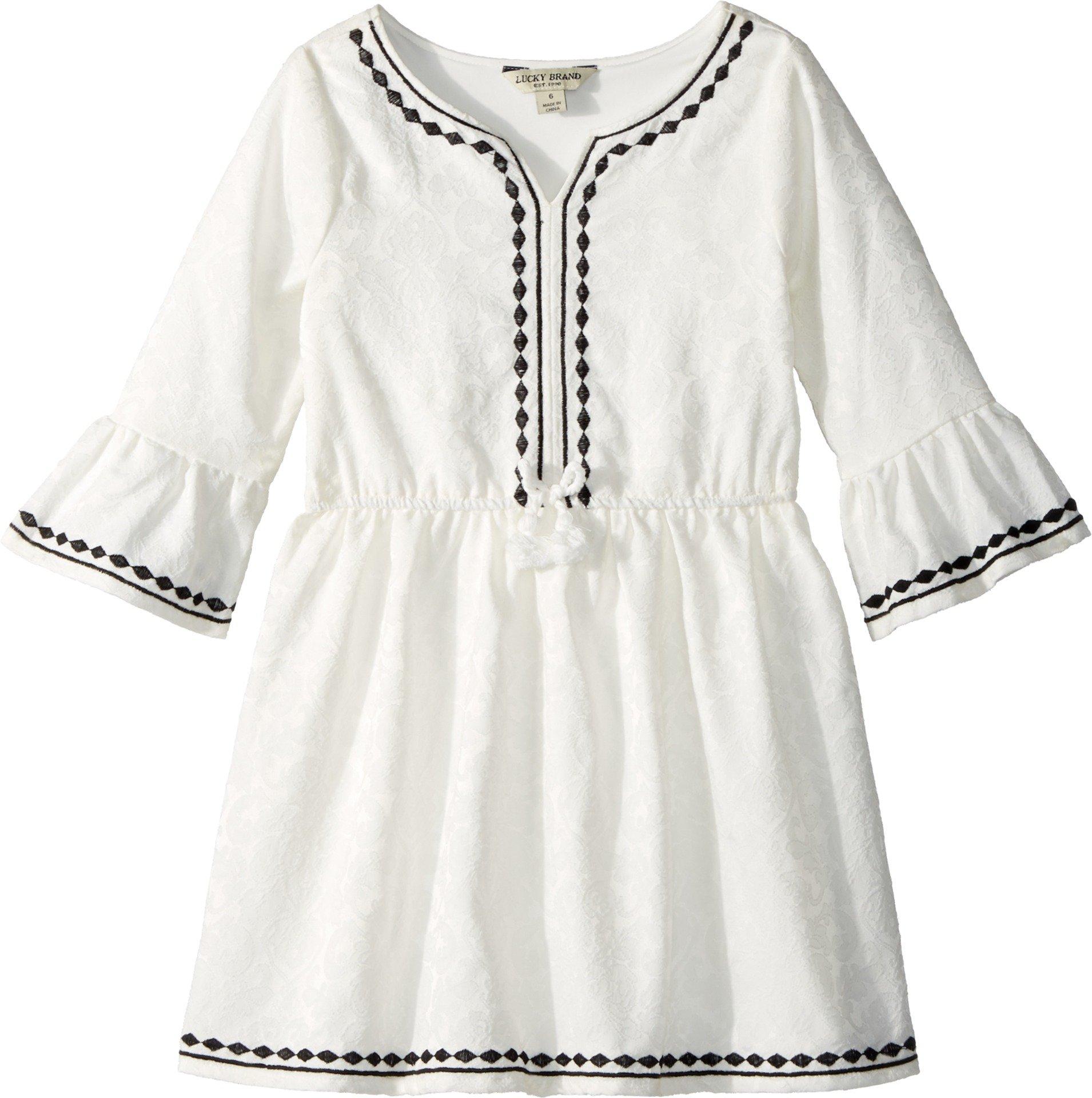 Lucky Brand Kids Girl's Tabitha Dress (Little Kids) Whisper White 4-5