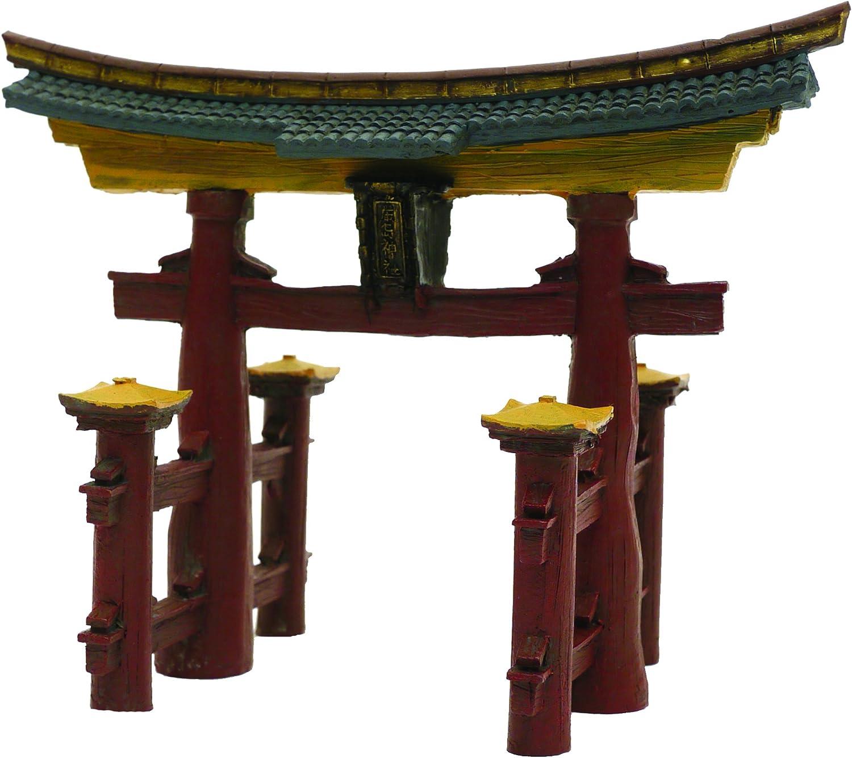 Blue Ribbon Ble Ornmt Japanese Torii Gate