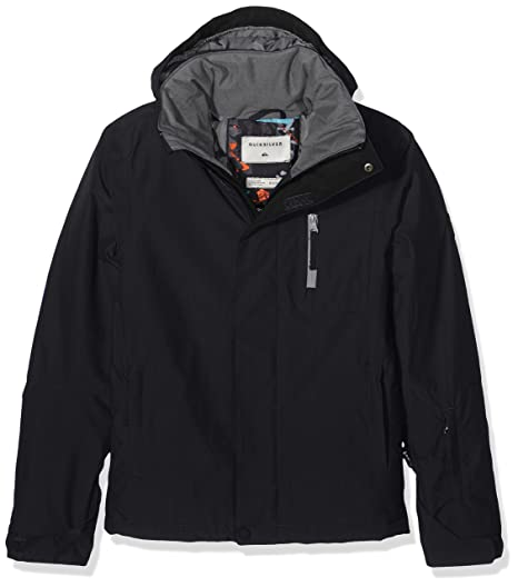 Quiksilver Mission Solid Youth - Chaqueta nieve para niño, color negro, talla M