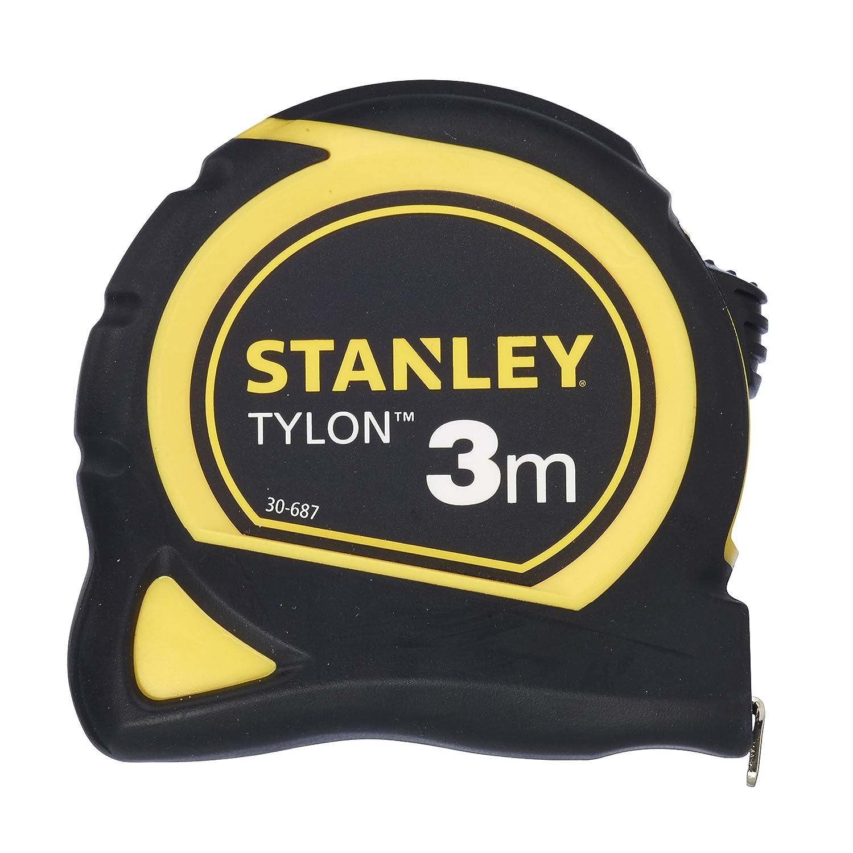 Stanley Bandmass Tylon (8 m, Tylon-Polymer Schutzschicht, verschiebbarer Endhaken, Kunststoffgehä use) 0-30-657 BLAMT