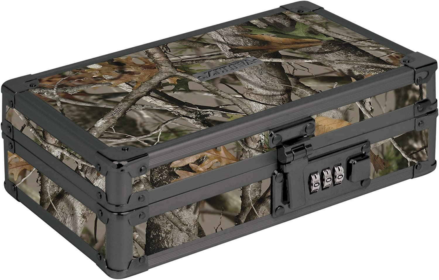 "Vaultz Locking Supplies & Pencil Box with Combination Lock, 5""x 2.5""x 8.5"", Next Camo (VZ00860)"