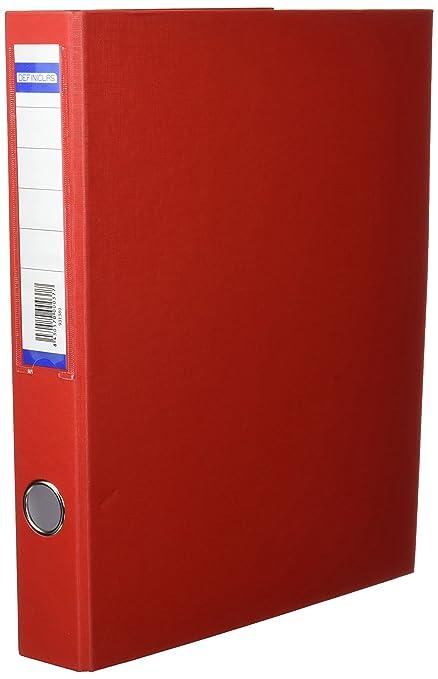 5 Star 931389 - Carpeta de 2 anillas, 25 mm, color rojo