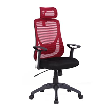 soges High Back Mesh Chair Adjustable Mesh Chair for Computer Office Task Chair Swivel Chair with BIFMA Certification, HLC-1168F-1-BW