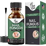 Foot Cure Extra Strong Nail & Toe Fungus Treatment - Made In USA, Best Nail Repair Set, Fungi Fingernail & Toenail Solution,