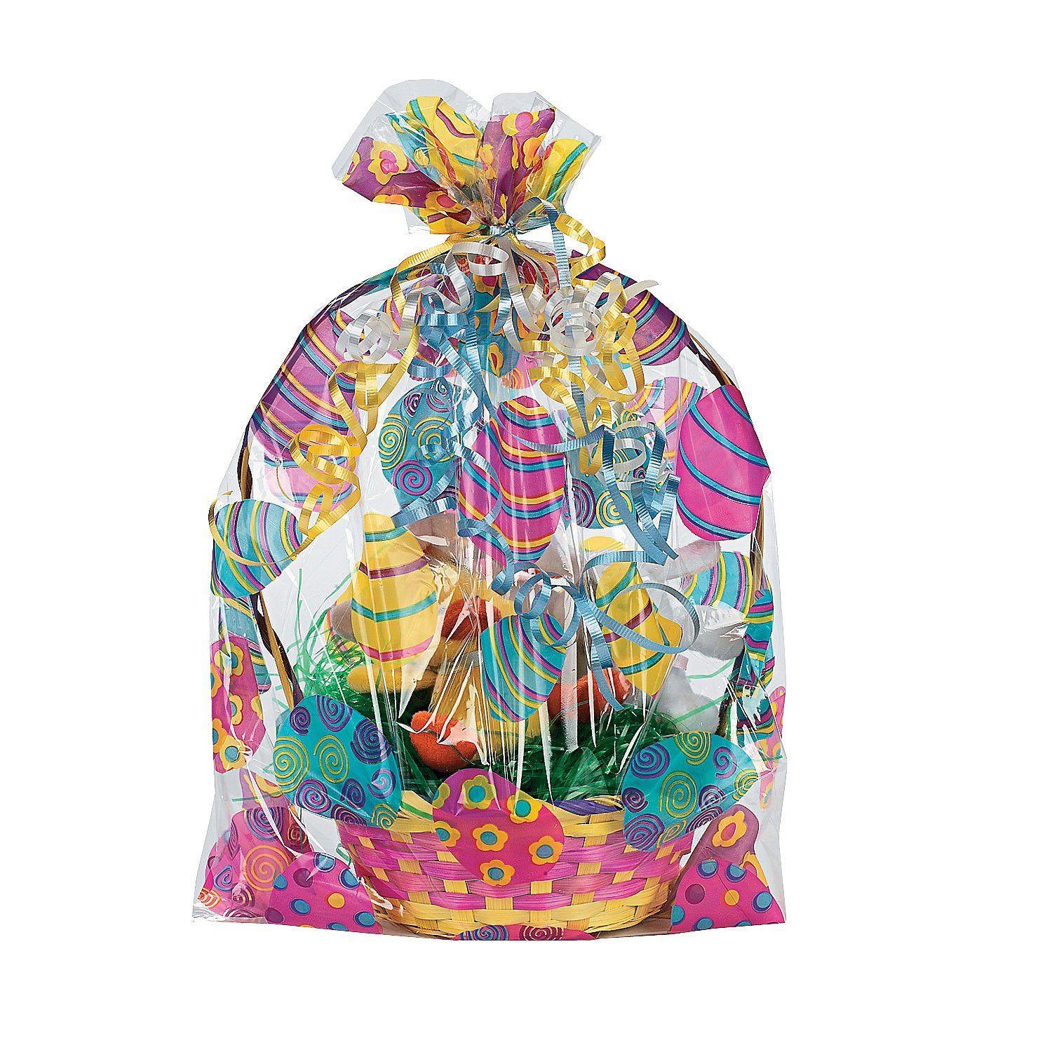 100 cellophane gift wrap bags packaging ideas for christmas amazon com easter basket bags 12 pack 17 3 4 negle Choice Image