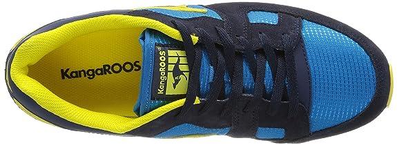 Kangaroos Coil R1 - Zapatillas, color Dark Navy/Acid Yellow 477, talla 41