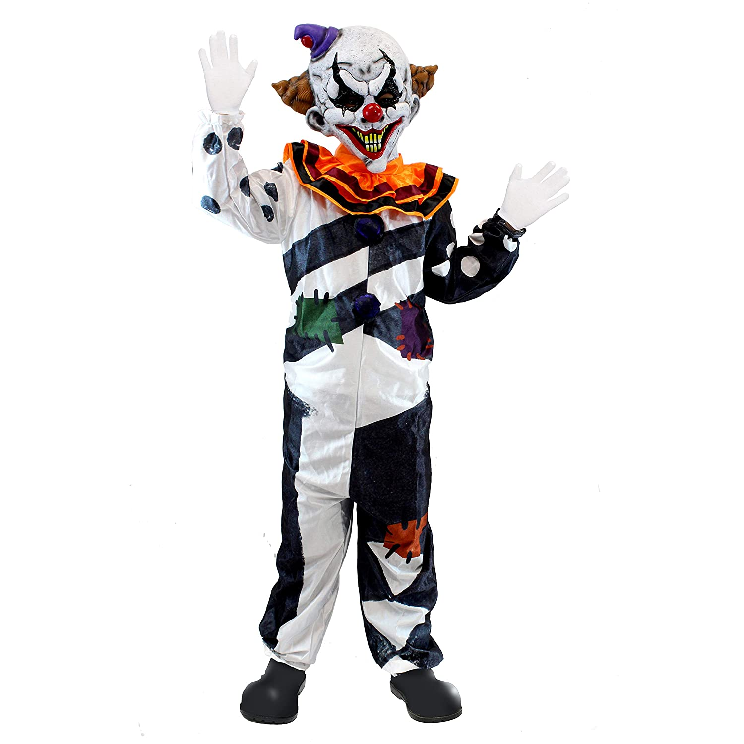 Scary Clown Halloween Costume.Scary Clown Costume Kids Deluxe Set For Halloween Dress Up Party Role Play And Carnival Cosplay