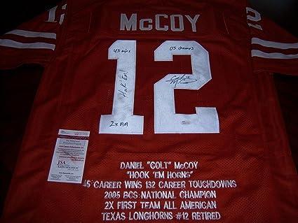 check out a4c04 a87ab Amazon.com: Colt McCoy Autographed Jersey - Texas Longhorns ...