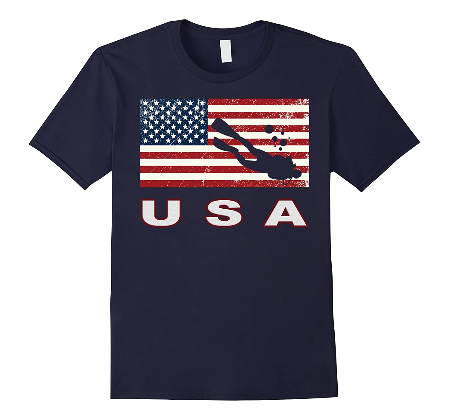 American SCUBA Shirt, USA Gift, SCUBA DIVING Team Shirts-Art