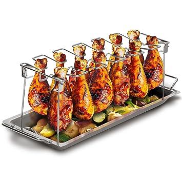 Barbacoa Republic pollo pata de soporte para 12 Chicken de ...