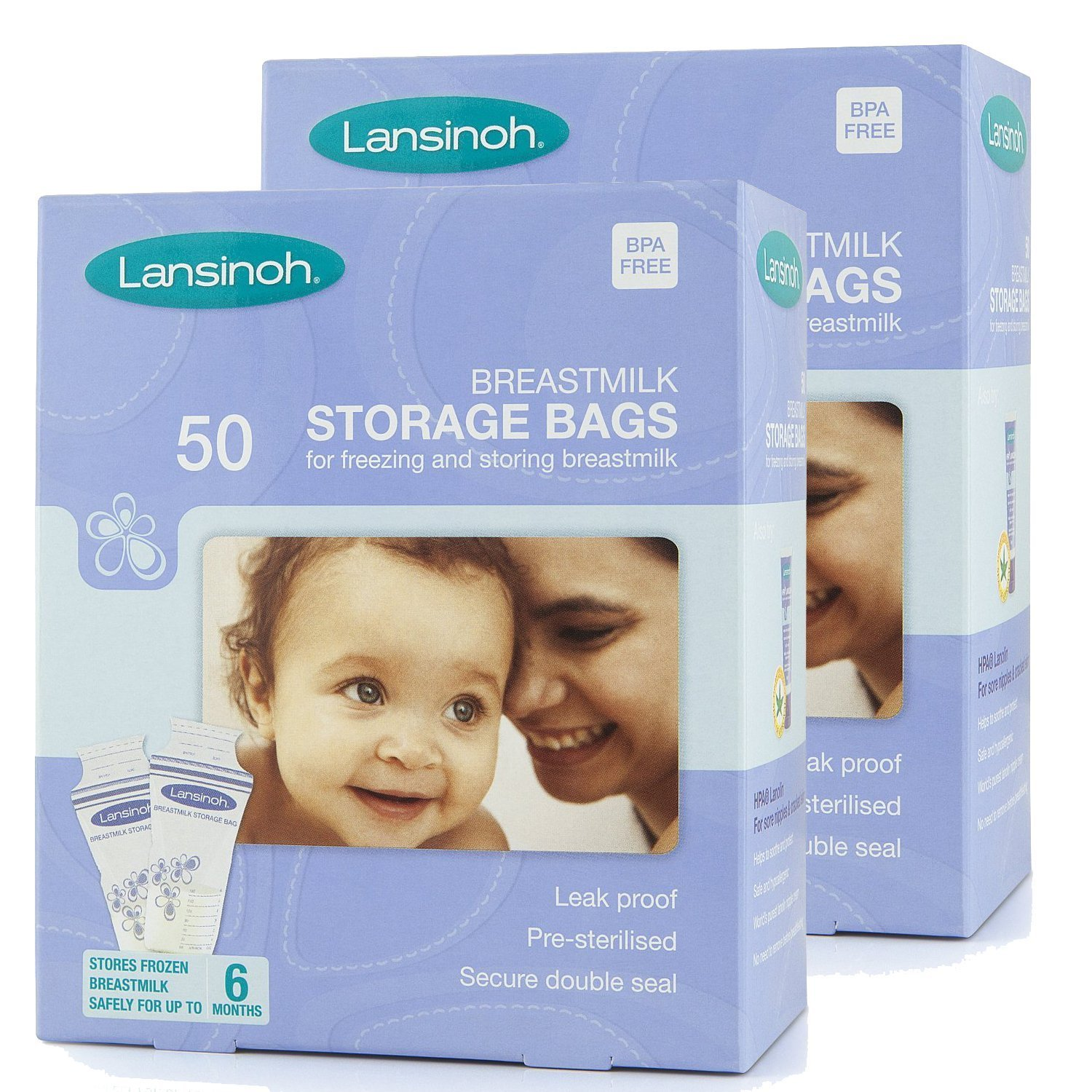 Lansinoh Breast Milk Storage Bags 50 Pieces Pack Of 2 Fast