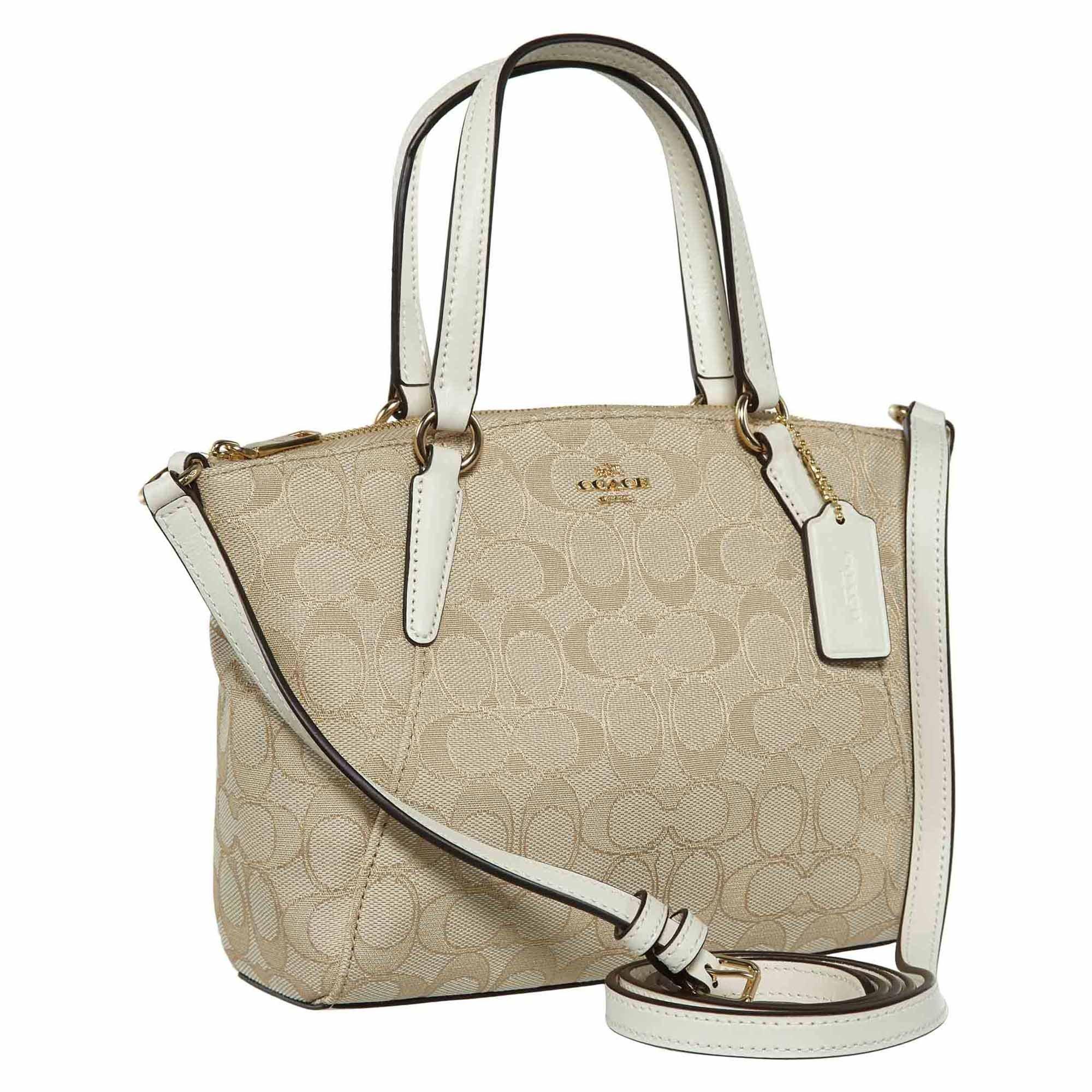 COACH F27580 Mini Kelsey Satchel Signature Crossbody Shoulder Bag CLK $225