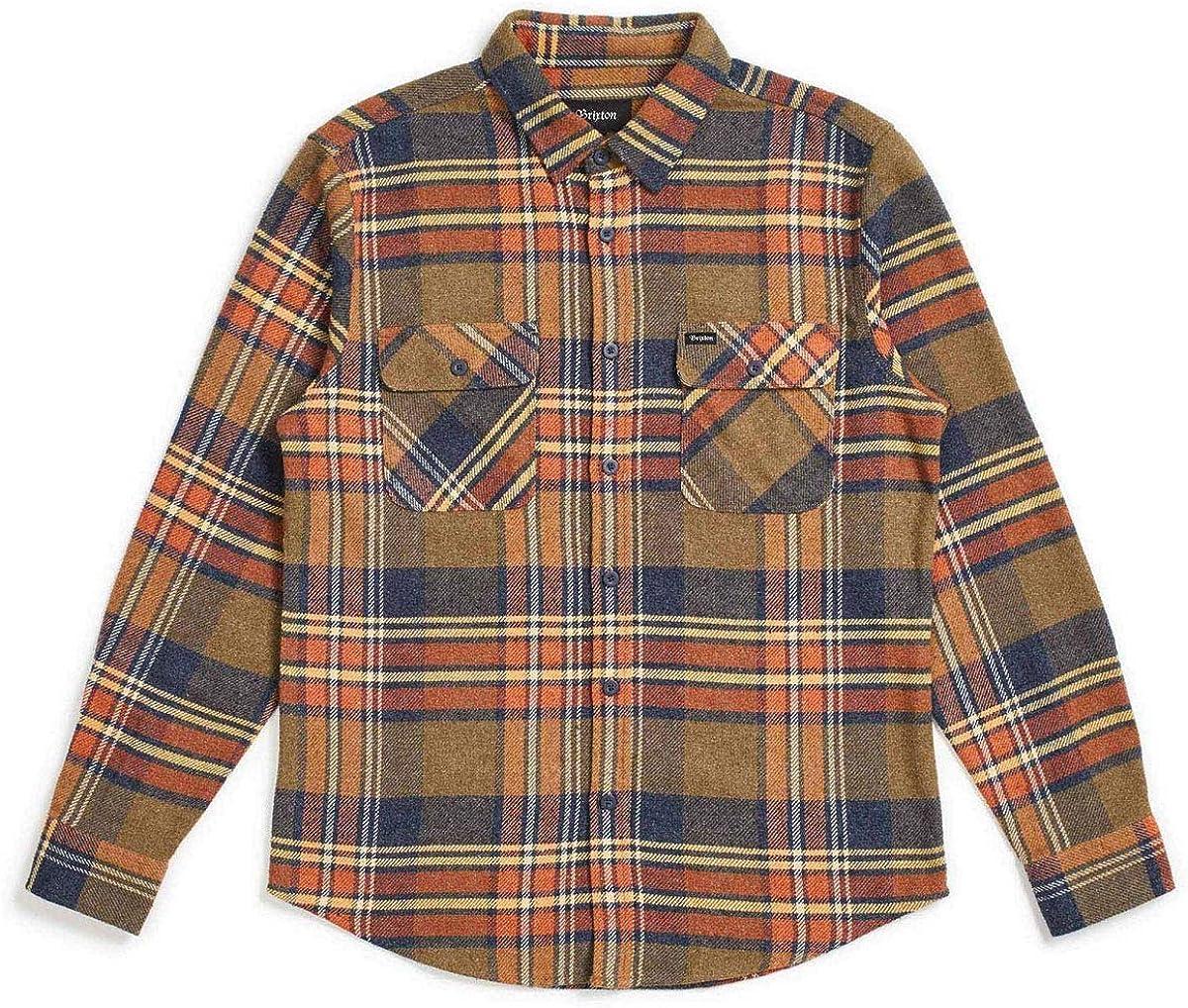 BRIXTON Bowery Flannel Camisa de Manga Larga: Amazon.es: Ropa y accesorios