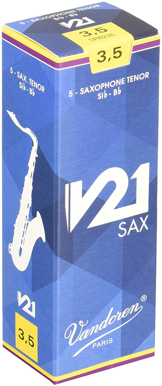 Vandoren V21 Tenor Saxophone Reeds - Box of 5 - Strength 3 SR823