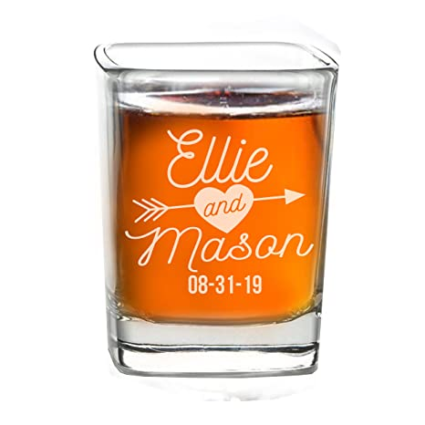 amazon com personalized shot glass wedding favors custom
