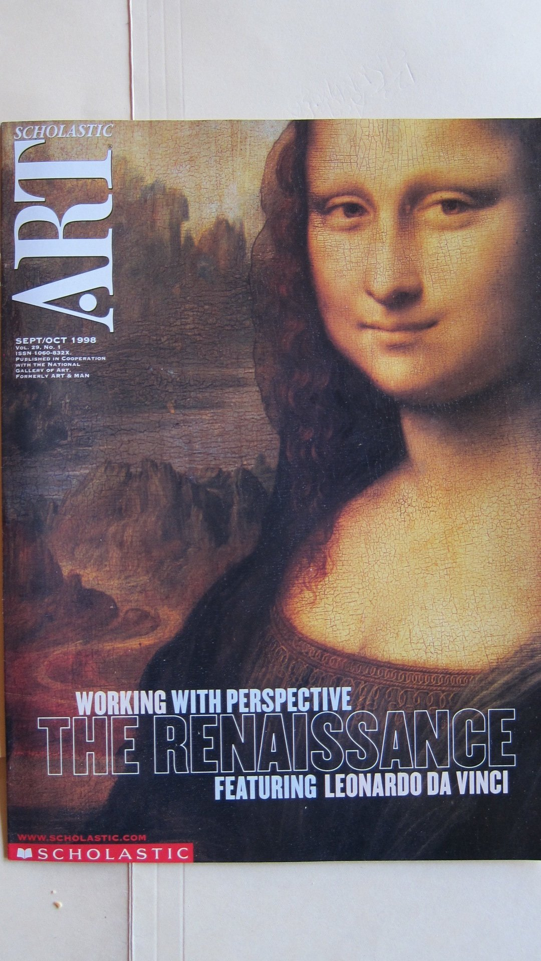 scholastic art magazine the renaissance featuring leonardo da vinci working with perspective scholastic art magazine