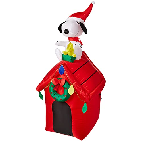 gemmy peanuts snoopy airblown inflatable 4 doghouse