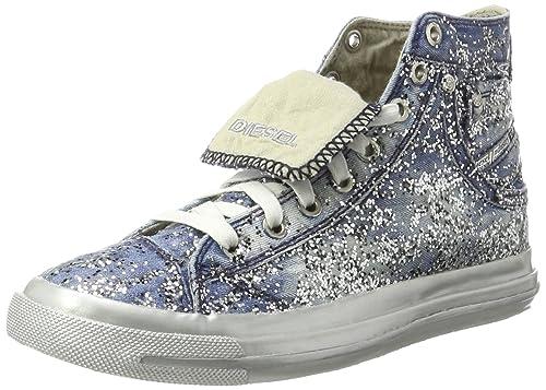 Diesel Magnete Exposure IV W-snea Y00638, Zapatillas Altas para Mujer, Azul (Indigo T6067), 36 EU: Amazon.es: Zapatos y complementos