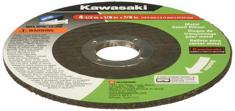 Kawasaki 840826 4-1//2 Flat Metal Cutting Wheel,